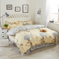 HD143 - Watery Year Luxury High Quality 4pcs Queen Bedding Set